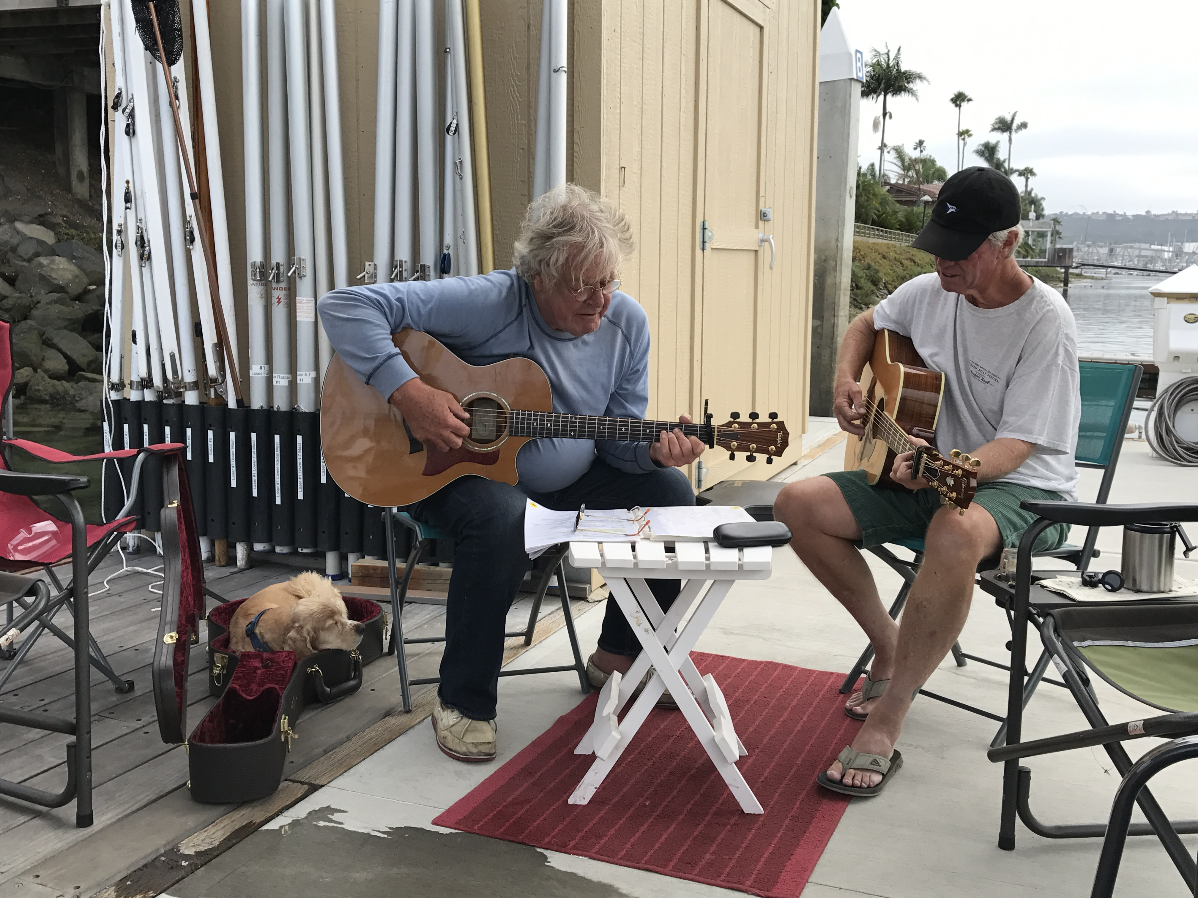 Even the puppy likes when the guitar is out of the case!